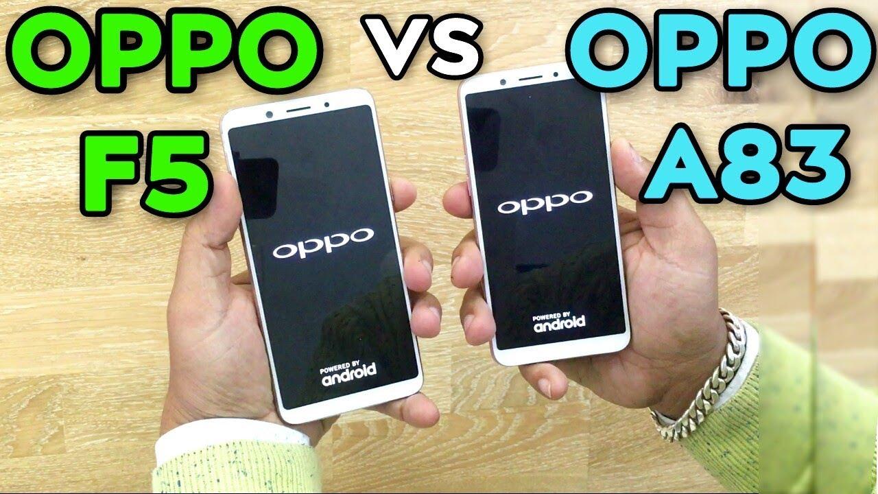 Oppo F5 Vs Oppo A83 Speed Test Youtube