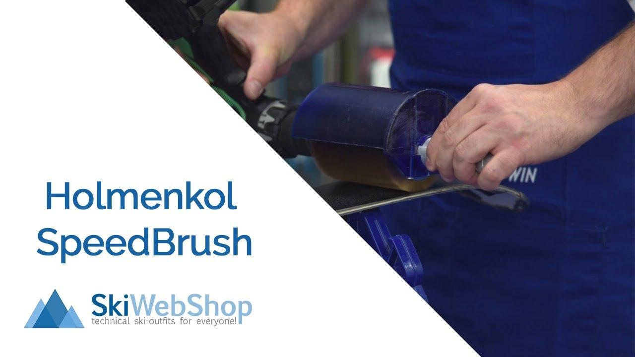 The fastest way to brush your skis! (Holmenkol Speedbrush set)