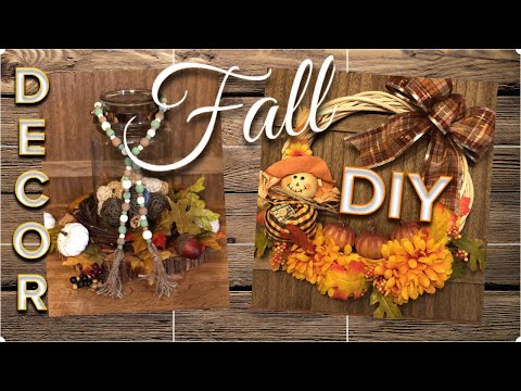 DOLLAR TREE DIY | Wood Bead Garland | Fall Vine Wreath | September 2019