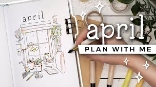 PLAN WITH ME | April 2020 Bullet Journal Setup