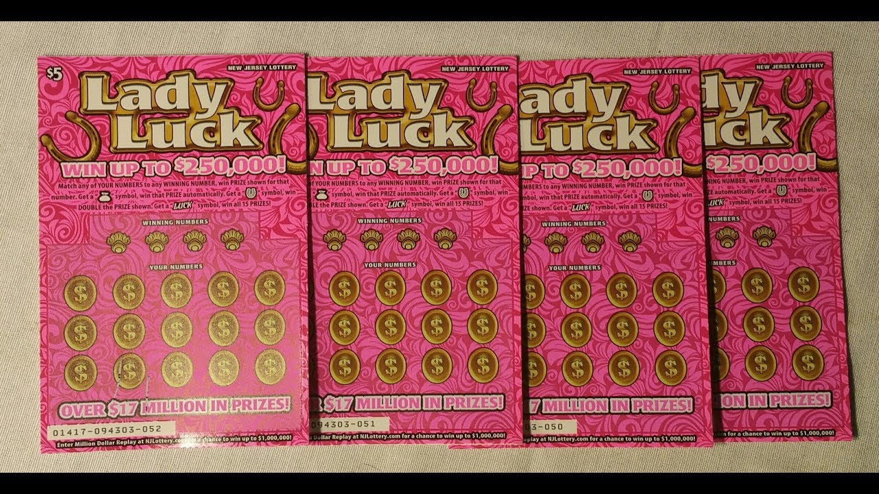 Four 5 Lady Luck Lottery Scratch Off Tickets One Winning Ticket Youtube