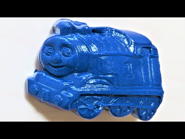Thomas & Friends made of slime with Wooden Railway RiChannel