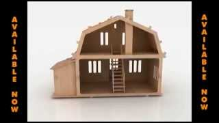 Wooden Toy Doll House Pattern For Scroll Saw Or Laser Cutter Dxf Files