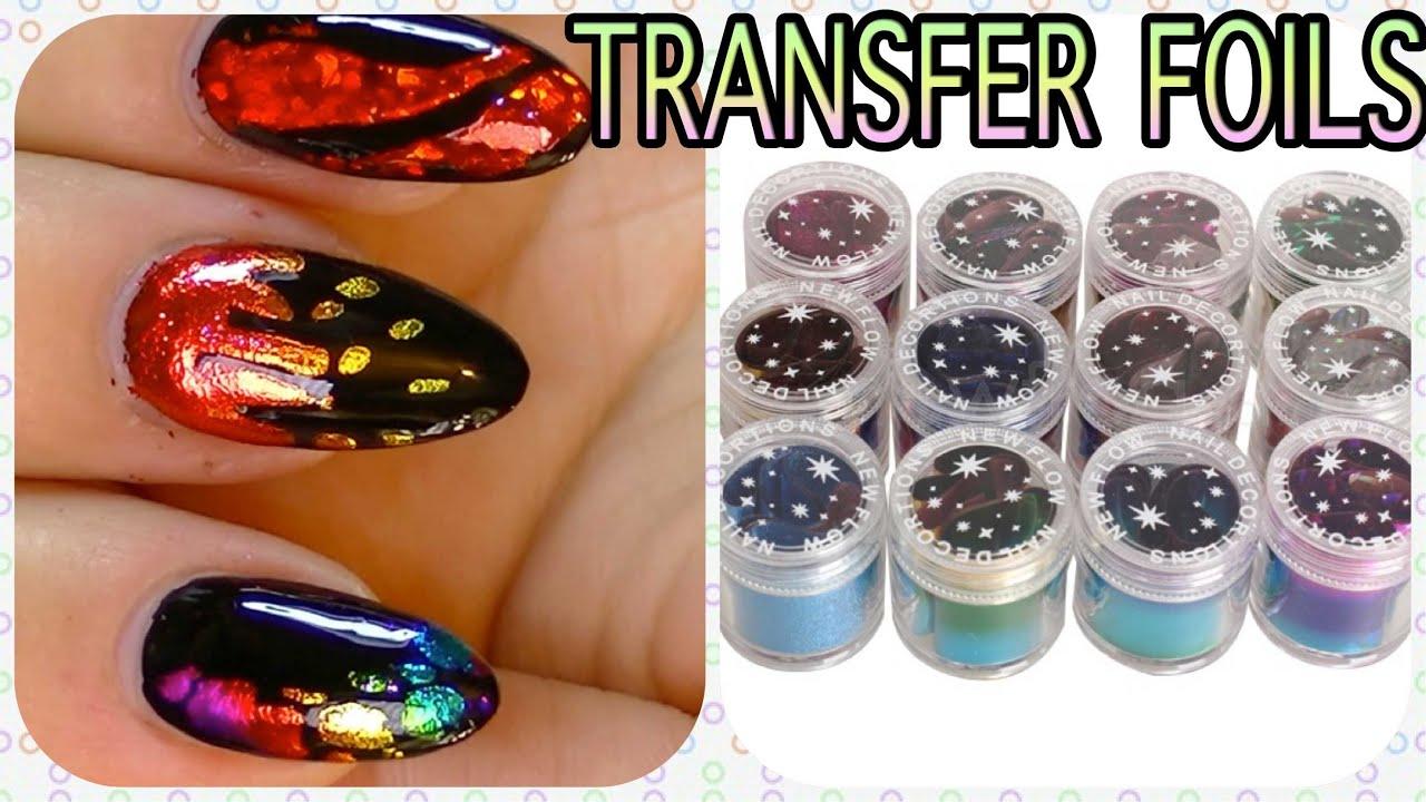 12 Rolls Nail Art Transfer Foils Cheap Setnewfrog Com Youtube