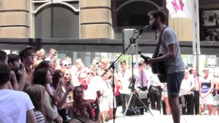 "LIVE: Passenger performs ""Scare Away The Dark"" busking in Martin Place, Sydney"