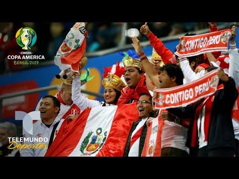 Así celebraron los peruanos la victoria contra Chile | Copa América | Telemundo