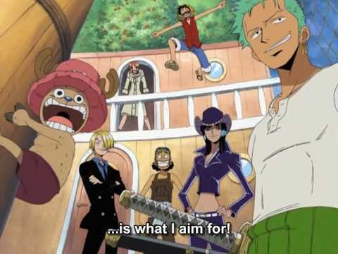 One Piece OP 03 - Hikari E (FUNimation English Dub, Sung by Vic Mignogna, Subtitled)