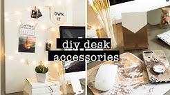 DIY DESK ACCESSORIES // COPPER & WHITE DESK DECOR