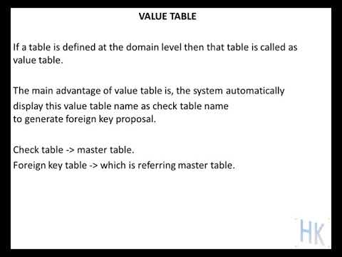 25 value table in sap abap