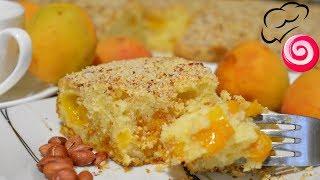 Абрикосовый пирог с арахисовой посыпкой