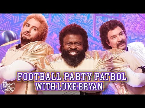 Charlie Parker - Luke Bryan Rocks A Mullet For Hilarious Football Party Sketch