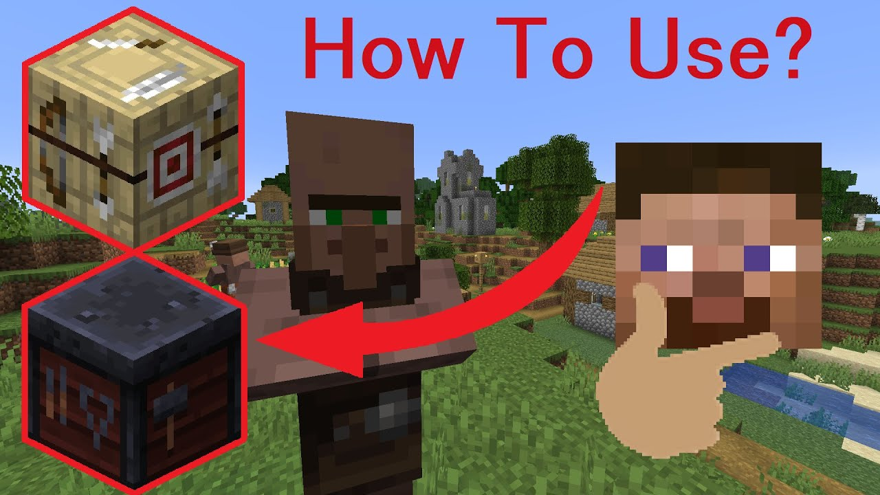 Smithing Table and Fletching Table in Minecraft