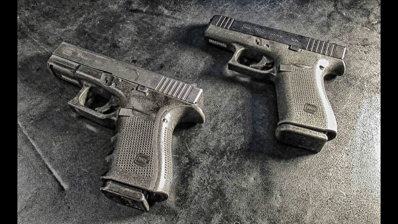 Glock 19 vs Glock 43x Size difference - YouTube
