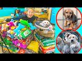 Buying My Puppy EVERYTHING IN THE PET STORE & DONATING it!!