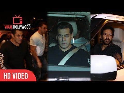 Salman Khan, Sohail Khan and Kabir Khan Entry at Fun Evening with Team Tubelight