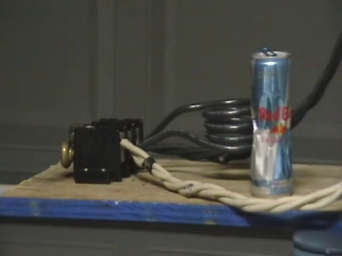 Magnetic induction can crushing of an Aluminum Cans