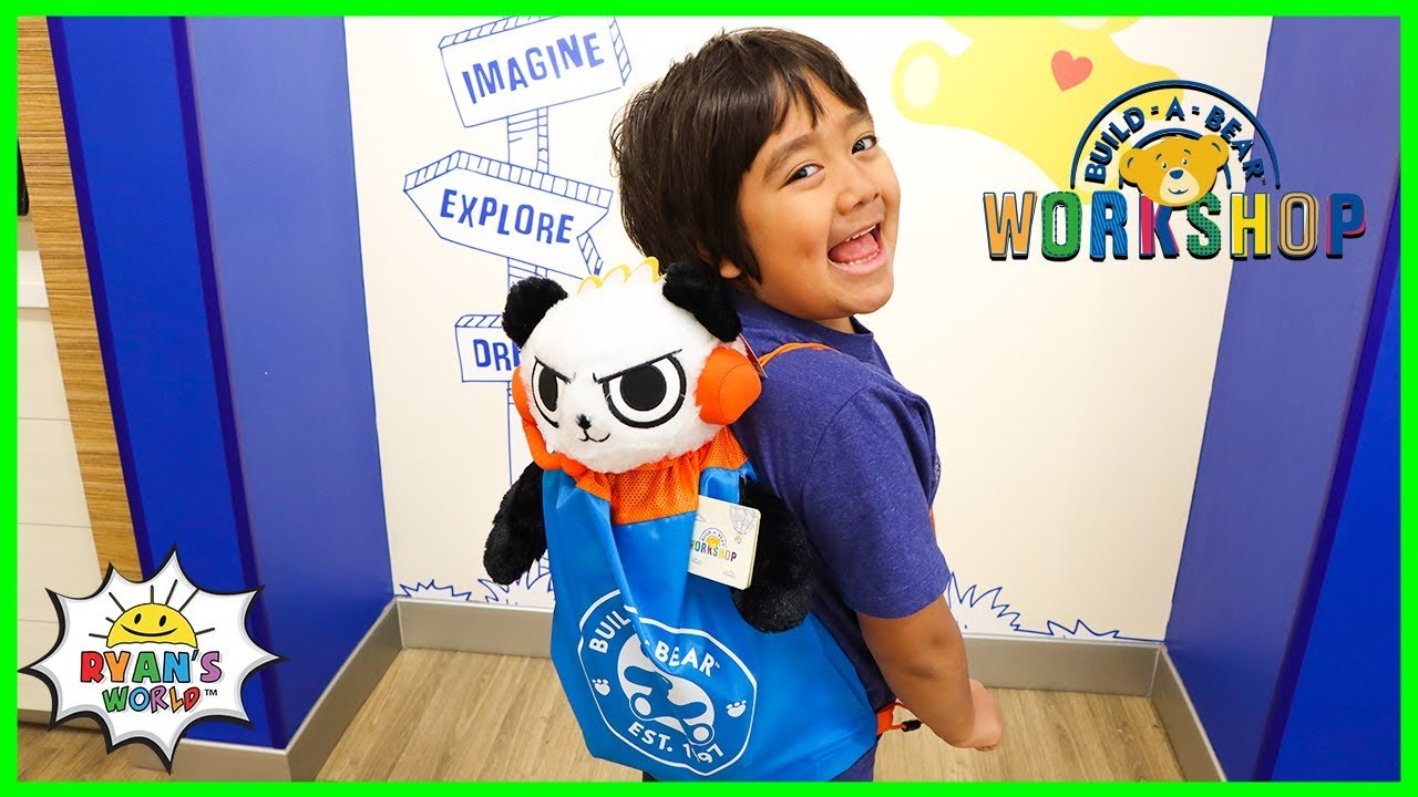Ryans first Combo Panda at Build-a-Bear Workshop!!!