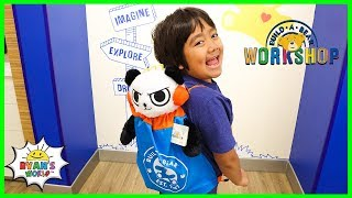 Ryan's first Combo Panda at Build-a-Bear Workshop!!!