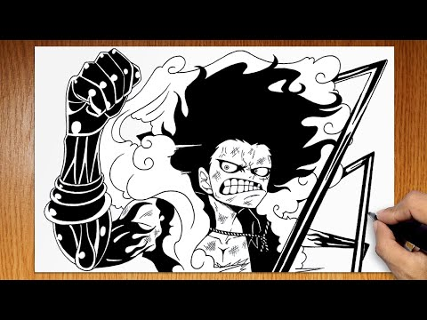 How To Draw Luffy Gear 4 Snakeman From One Piece