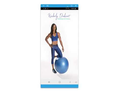 KD Nutrition and Fitness Mobile App Intro