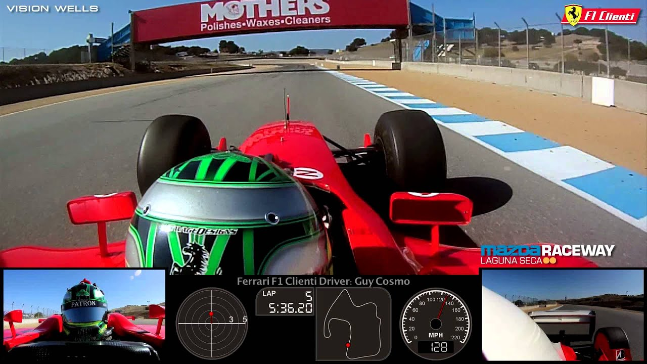 Laguna Seca Raceway >> Guy Cosmo: 2003 Ferrari Formula 1 / F1 Cliente Guest Drive ...