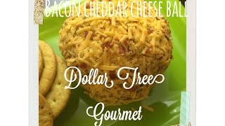 Bacon Cheddar Cheese Ball Appetizer Recipe (dollar Tree Chic Christmas Collab)