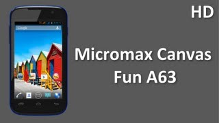 Micromax Canvas Fun A63 Price Specification Review come with 1.3 GHz Dual Core Processor