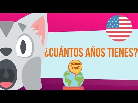 Cuntos aos tienes  Aprendo Ingls  YouTube