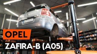 Hoe een schokdemper achteraan vervangen op een OPEL ZAFIRA-B 2 (A05) [AUTODOC-TUTORIAL]