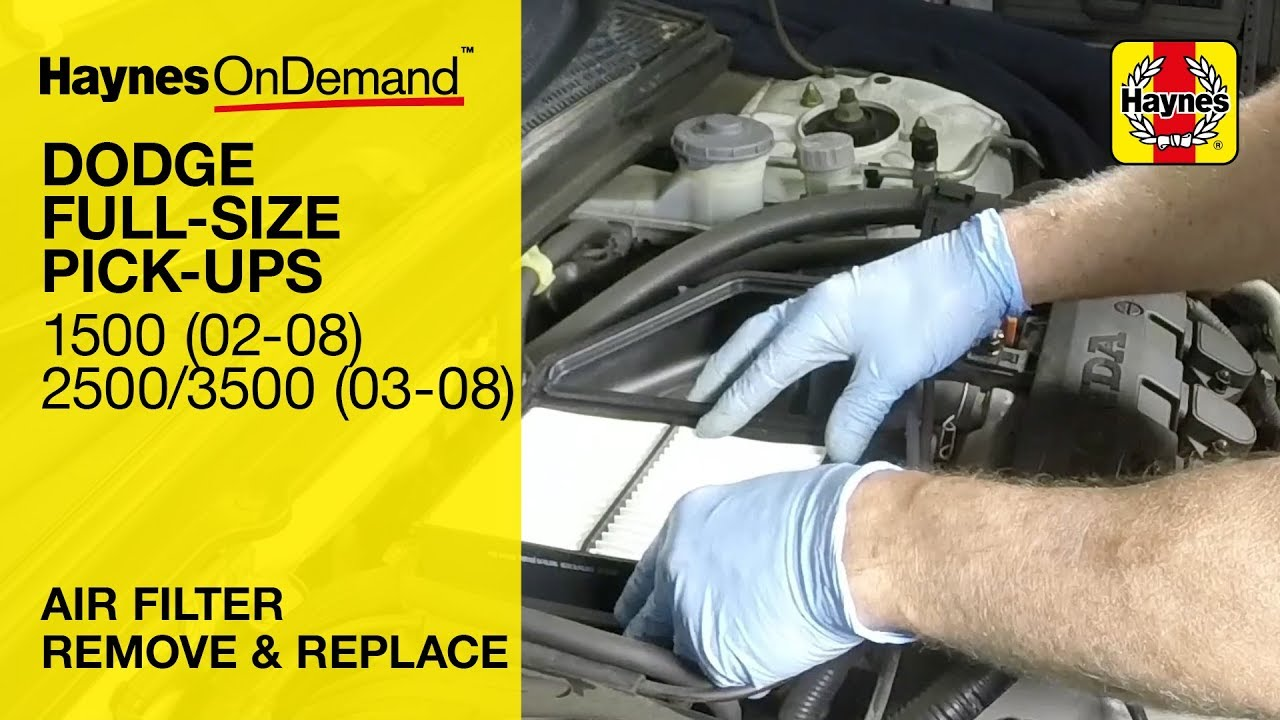 how to change the air filter on a dodge ram 1500 2002 2008 2500 3500 2003 2008  [ 1280 x 720 Pixel ]