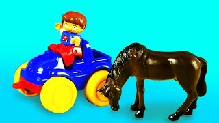 Toys Play With Farm Animals For Kids Shepherd's Game Learning Video For Children