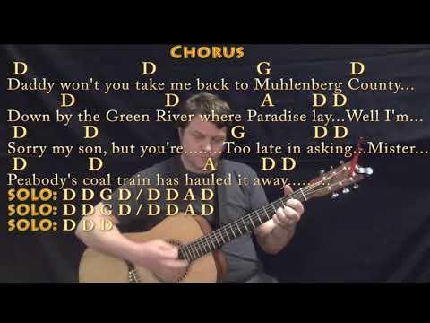 Paradise (John Prine) Guitar Lesson Chord Chart With Chords/Lyrics
