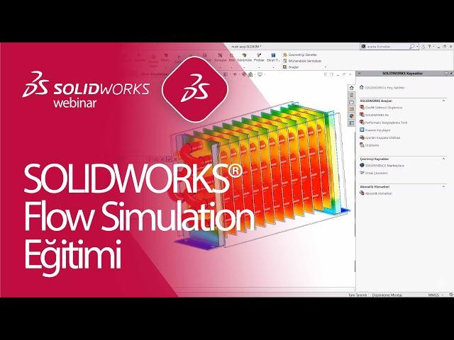 SOLIDWORKS Flow Simulation Eğitimi - Akışkanlarla Isı Transfer Analizi