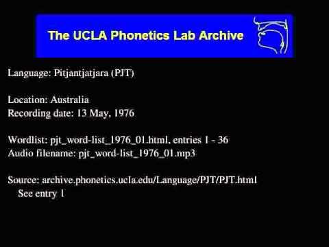 Pitjantjatjara audio: pjt_word-list_1976_01