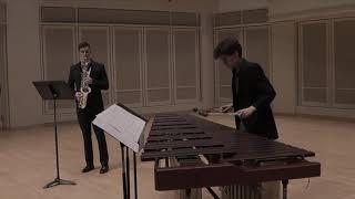 It flows by Stephen Karukas (Derek Granger, saxophone and Stephen Karucas, marimba)