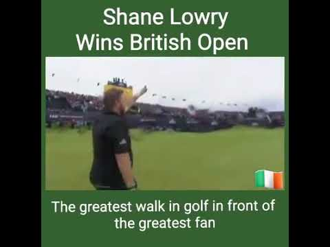 Shane Lowry wins British Open 21th July 2019
