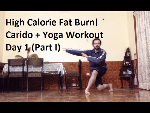 high-calorie-fat-burn!-no-equipment!-cardio-and-yoga-workout---day-1-(part-1)