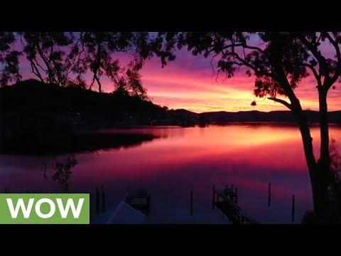 Stunningly beautiful winter sunset in Australia