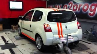 TEst dyno reprogrammation moteur Renault Twingo 1.2 16V 75ch