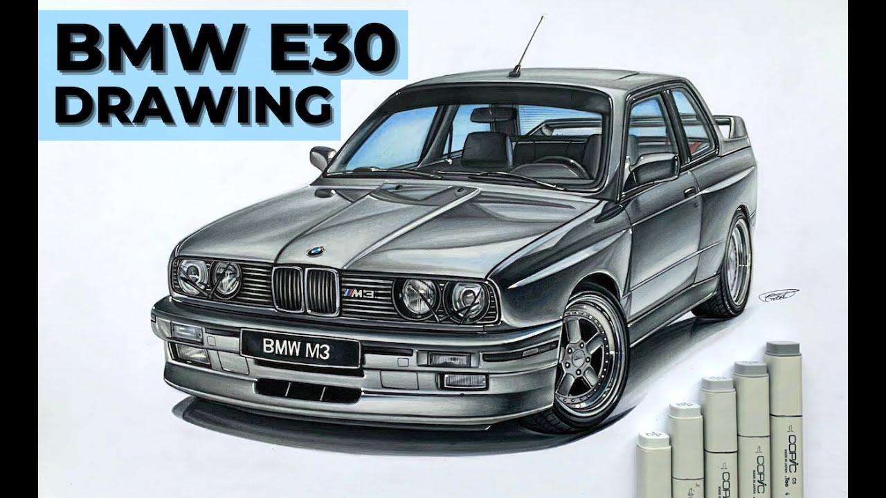 CAR DRAWING - BMW E30 M3