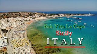 🇮🇹 San Vito Lo Capo 4K. Sicily 2021 from above.
