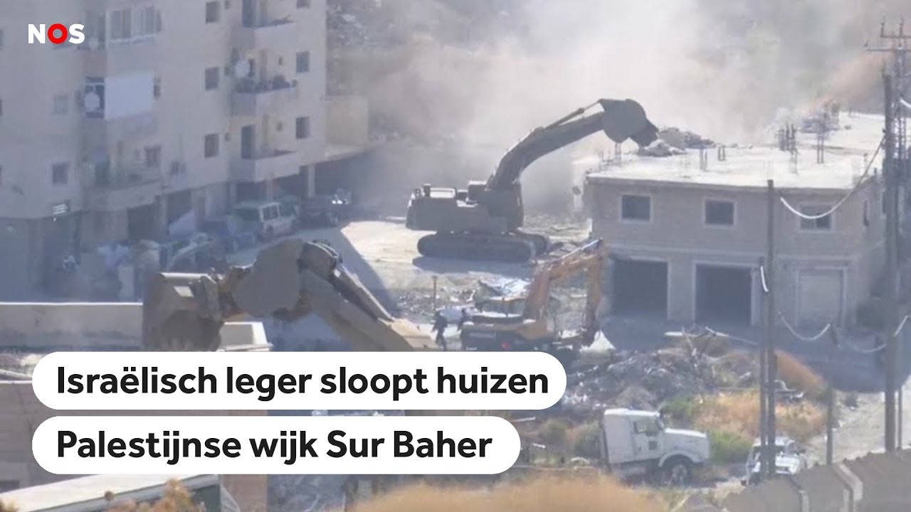 Download ISRAËL: Huizen in een Palestijnse wijk worden gesloopt door leger