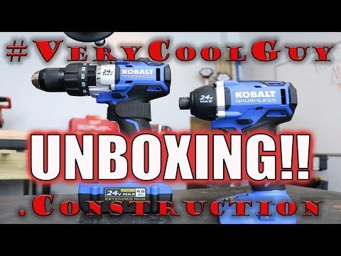 KOBALT (KLC2224A-03) 24 Volt Max Brushless Combo Kit UNBOXING!