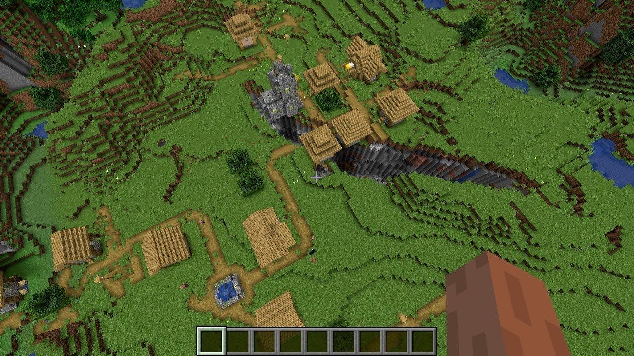 Minecraft 11.111 Seed Double village & Blacksmith ravine  Minecraft
