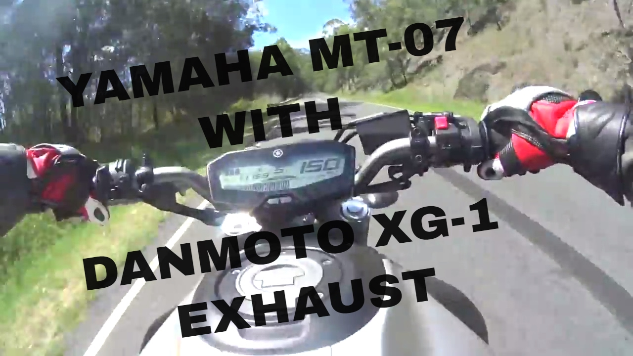 Fz 07 Mt 07 Exhaust Danmoto Xg 1 Motorcycle Full System Ride And