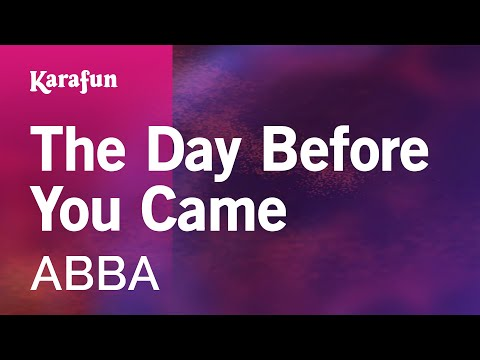 Karaoke The Day Before You Came - ABBA *