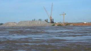 Travessia do Rio Madeira - Balsa da Obra da UHE-Santo Antonio - Porto Velho Rondônia