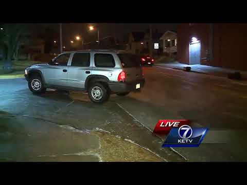 Icy road conditions on side streets