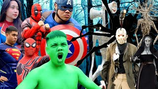 Superheroes Fights (MEGA Compilation #51p)Hulk VS Spider-Women VS SpiderMan VS Slender man- Fun Hulk
