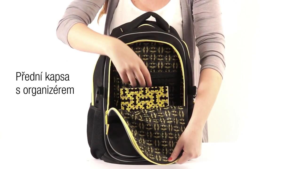 BAAGL Školní batoh s pončem Batman – ORIGINAL - YouTube 090d724ab1